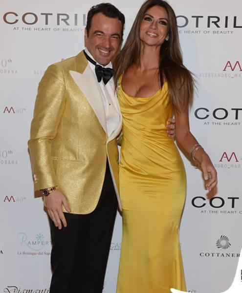 Oscar-Party-Alessandro-Martorana-40-Compleanno-Alessandro-Martorana-Alessia-Ventura-abito-Blumarine